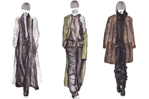 Haider Ackermann AW 13-14 Illustration by Tamara Venn