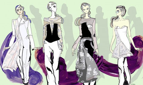 Anne Valérie Hash AW 13-14 Illustration by Anna Ferrier