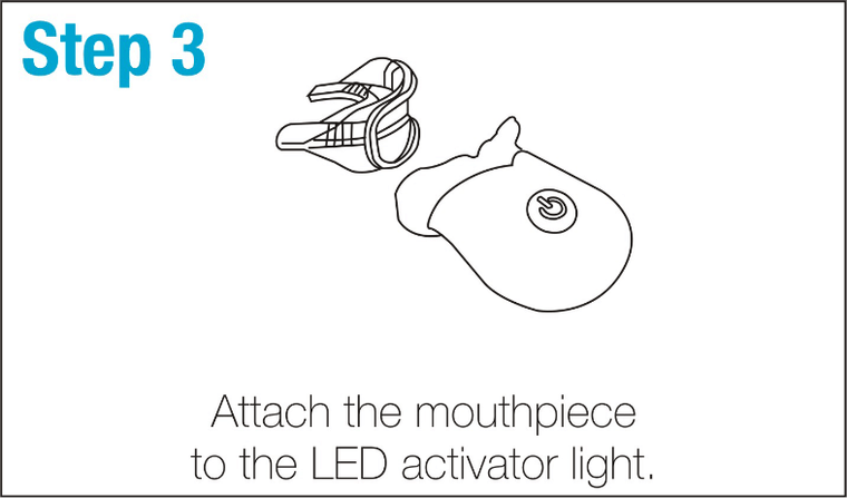 SmileBrightWhite-Step3-Attach-the-mouthpiece-to-the-LED-activator-light.