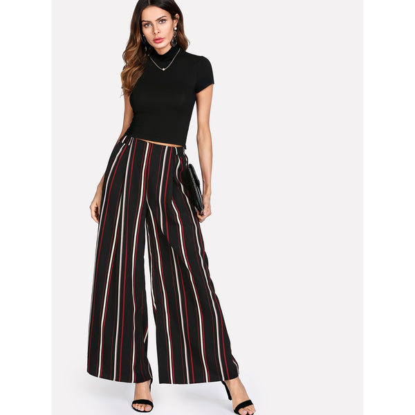 Vertical Striped Palazzo Pants