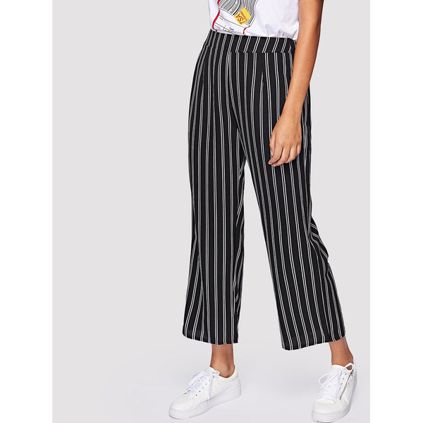 Vertical-Striped Pants
