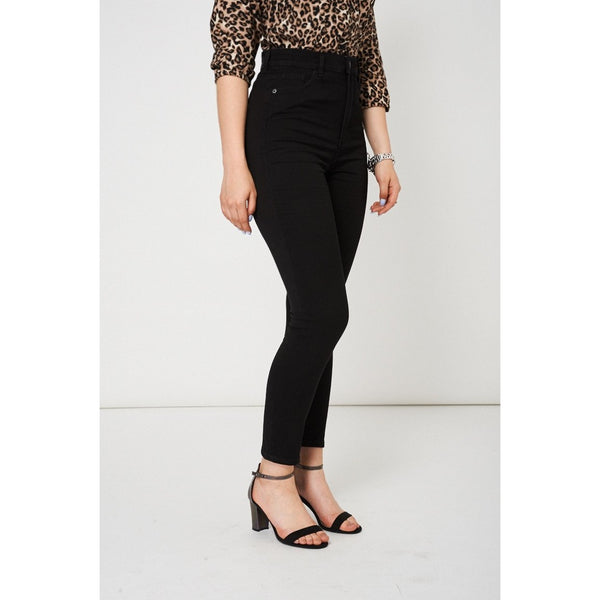 Black High Waist Slim Fit Jeans