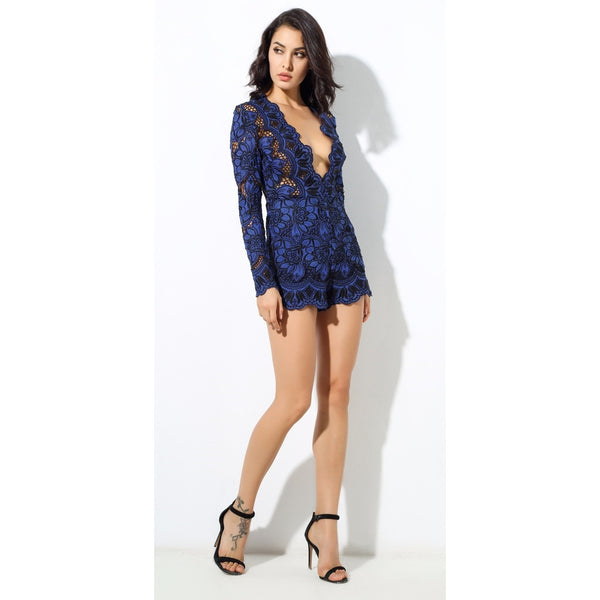 Blue Lace Playsuit