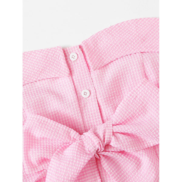 Bow Detail Crop Tube Top