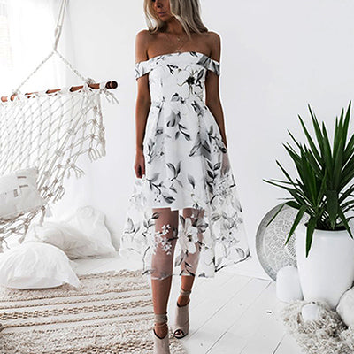 Backless White Kylie Dress