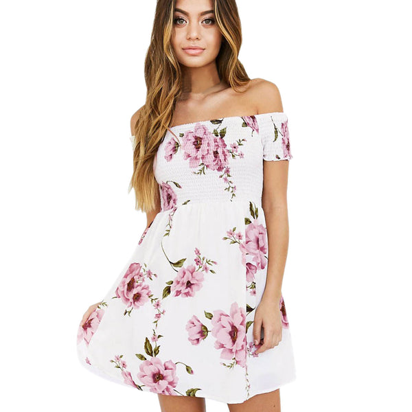 Sexy Off Shoulder Mini Party Dress