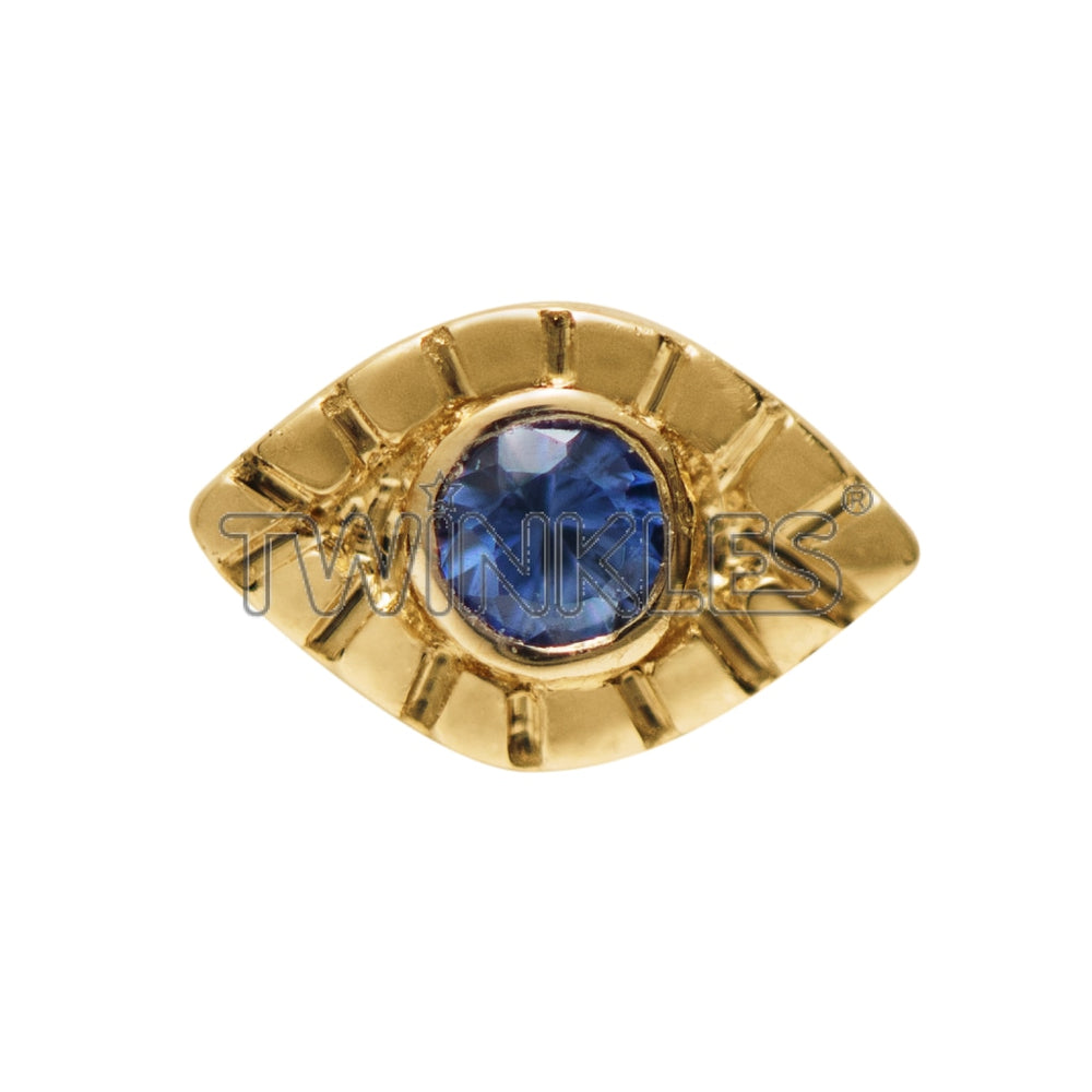 Evil Eye With Sapphire Tooth Gem