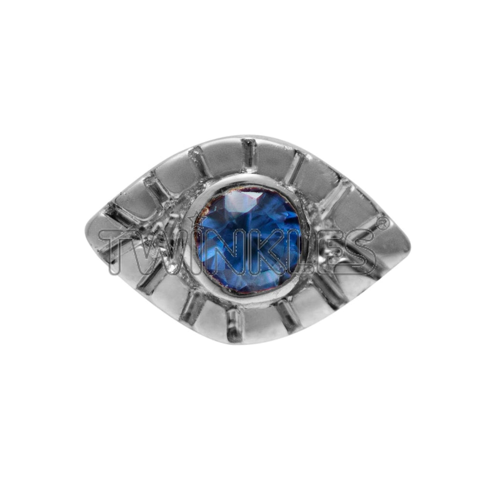 Evil Eye with Sapphire White Gold