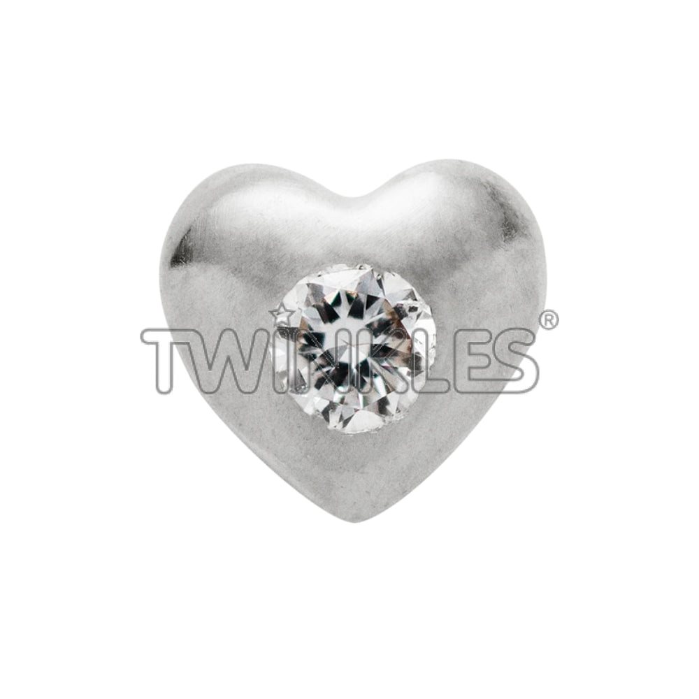 Heart w. Diamond Whitegold