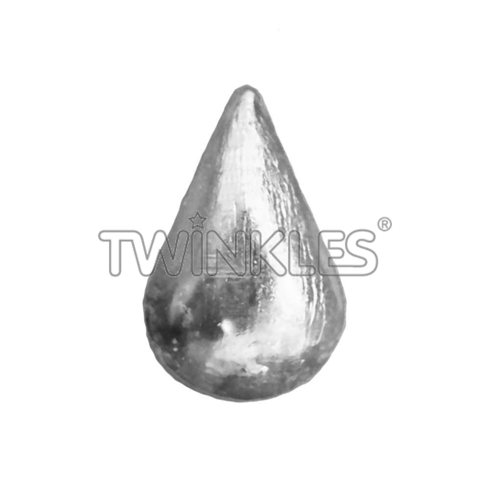 Large Droplet Whitegold Tooth Gem