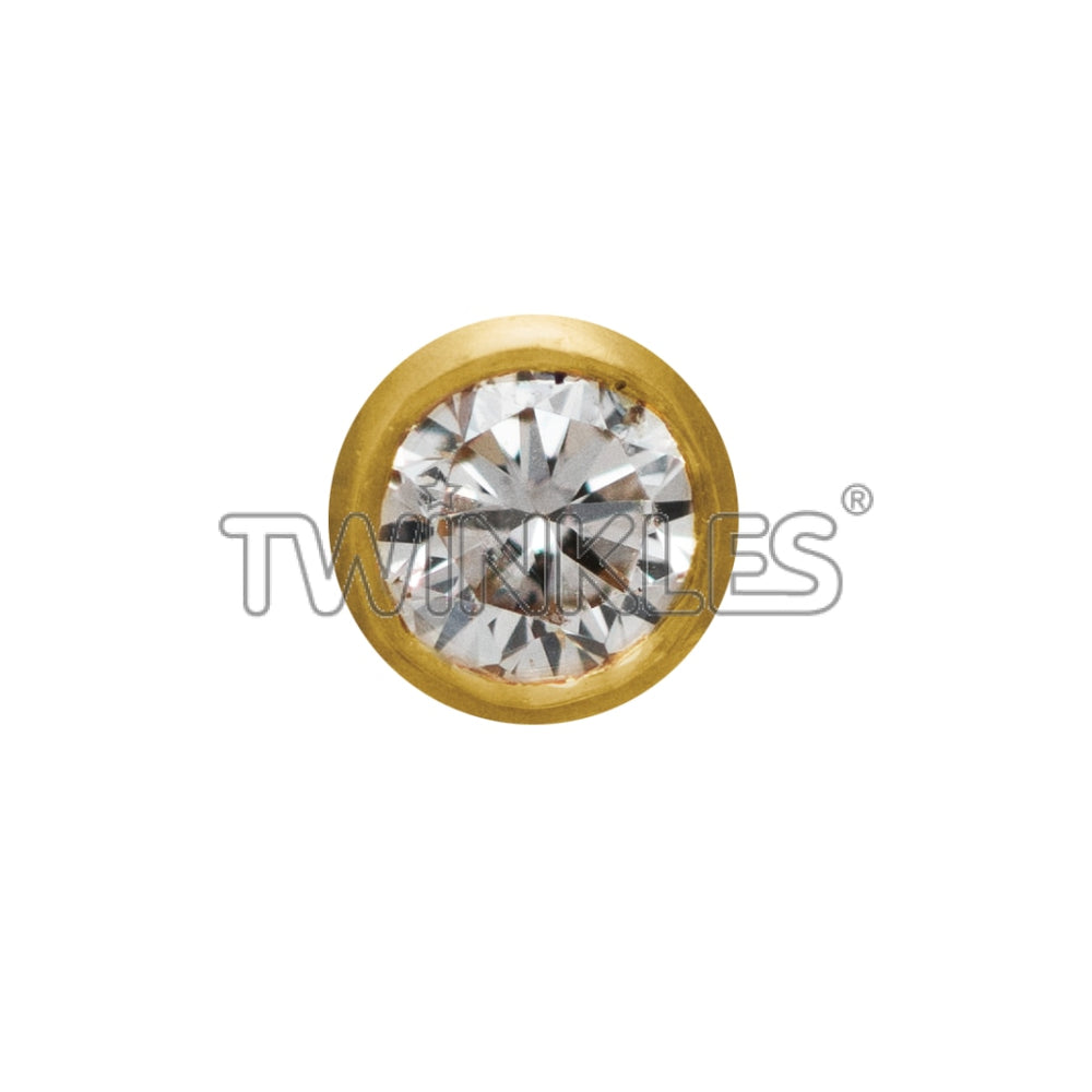 Round W. Diamond 002Ct Tooth Gem