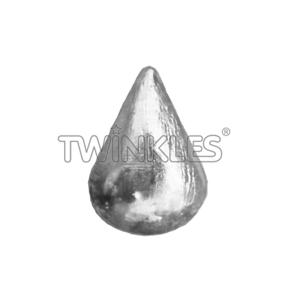 Small Droplet Whitegold Tooth Gem