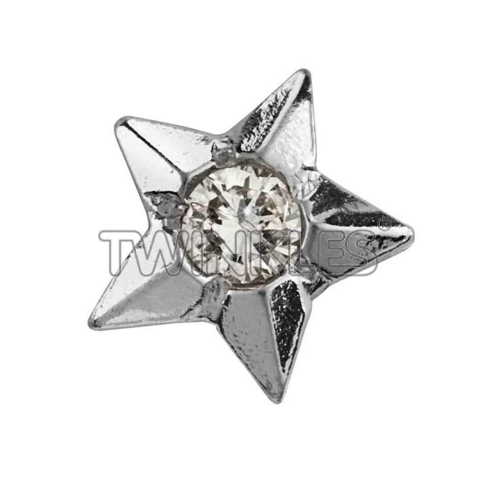 Star W. Diamond Whitegold Tooth Gem