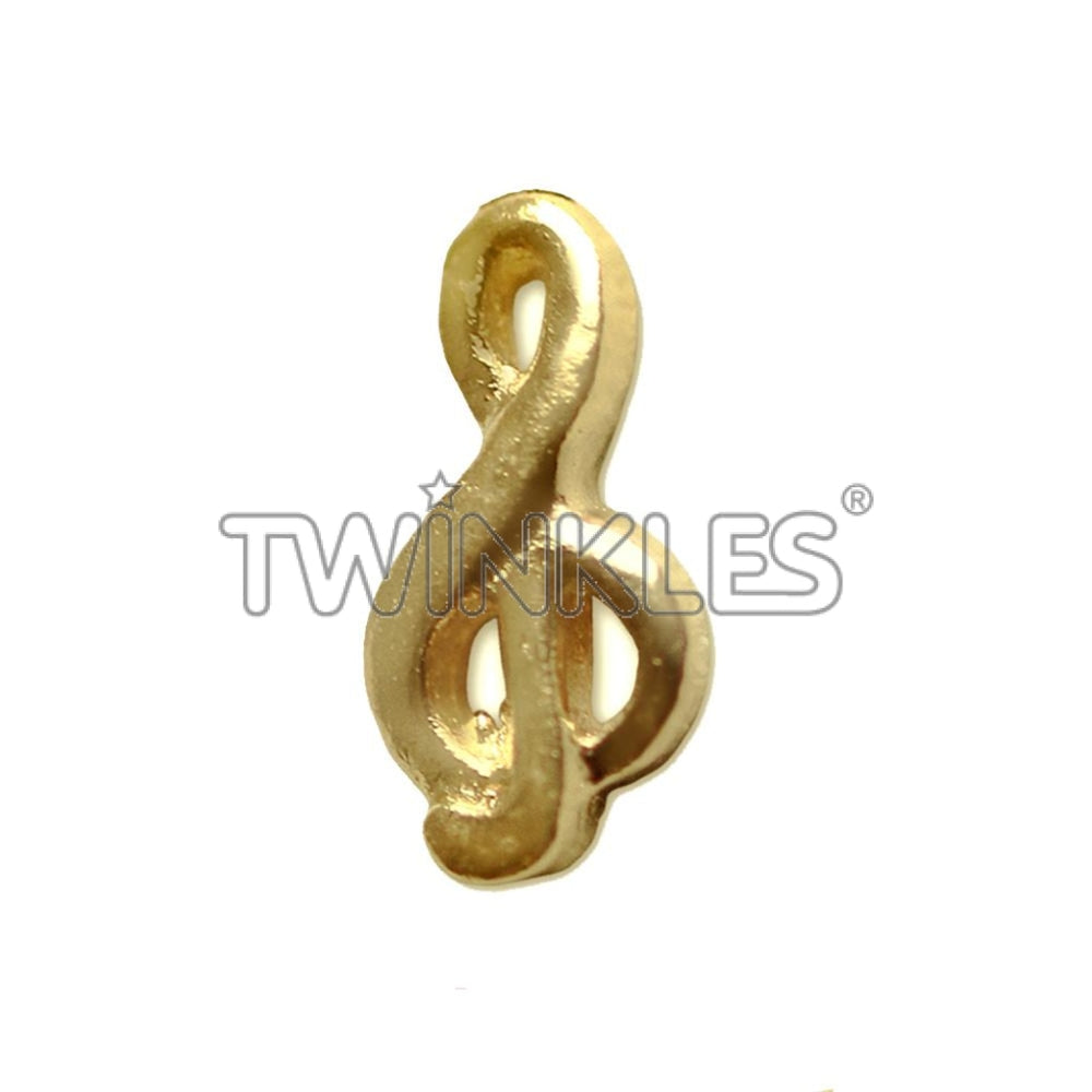 Treble Clef Tooth Gem