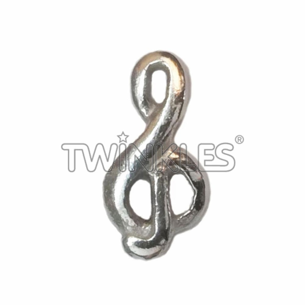 Treble Clef White Gold