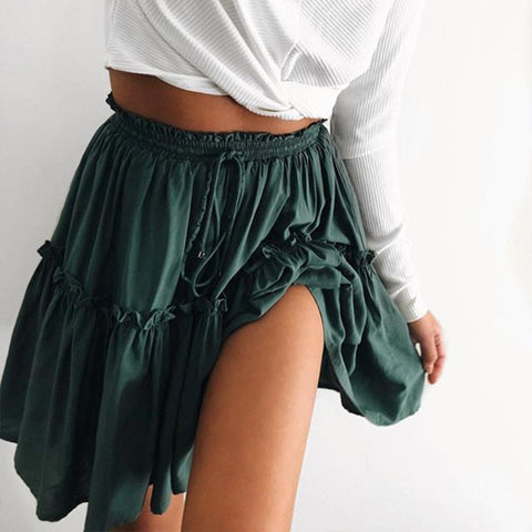 Sexy Pleated Casual Mini Skirt