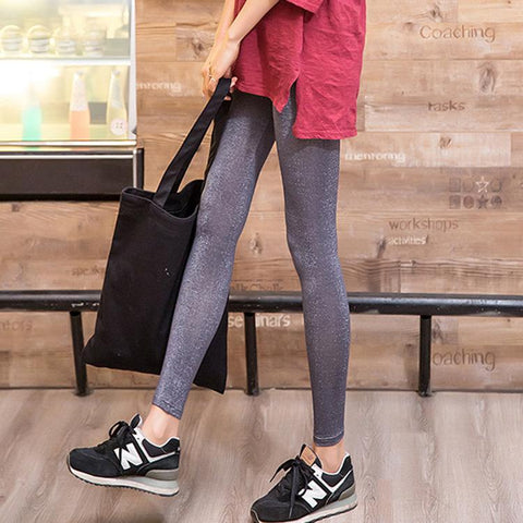 Fashion Slim Show Thin Knit Stretch Ninth Pants Pencil Tight Pants