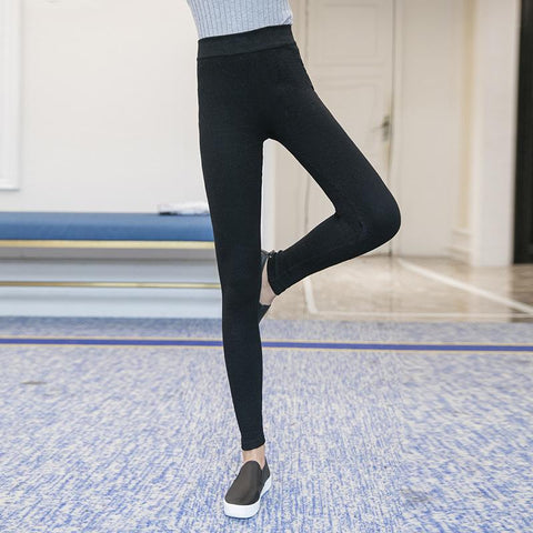 Fashion Slim Knitted Sport Stretch  Tight Pencil Pants