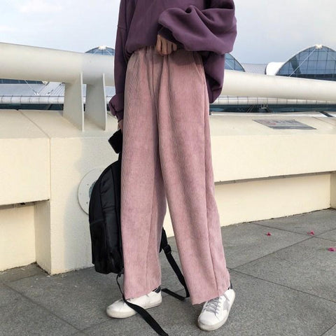 Corduroy Loose   All-Color Casual Pants