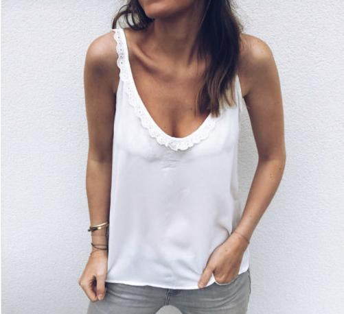 Casual Sexy Deep V Neck Sling Vest