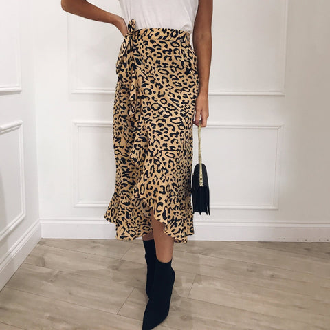 Fashion Leopard Printed Loose Skirt