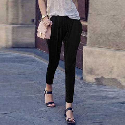 Casual Slim Thin Loose Elastic   Harlan Nine Pants