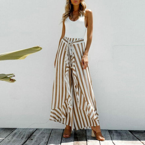 Fashion Wild Casual Beach Elastic Long Pants
