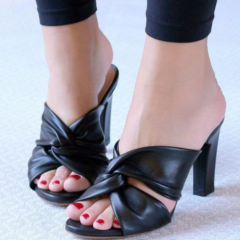 Fashion Thick Heel High Heel Open-Toe Sandals