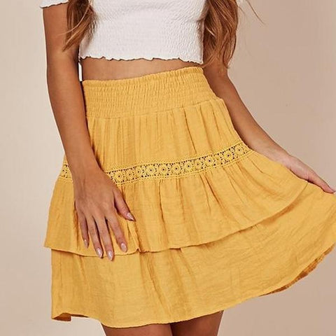 Plain  Fitted Basic Skirts