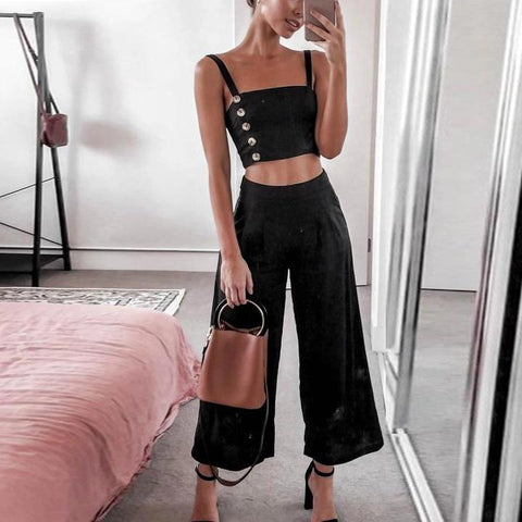 Camisole Casual Pants Suit