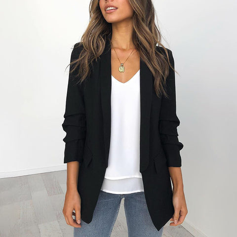 Fashion Loose Pure Colour Blazer