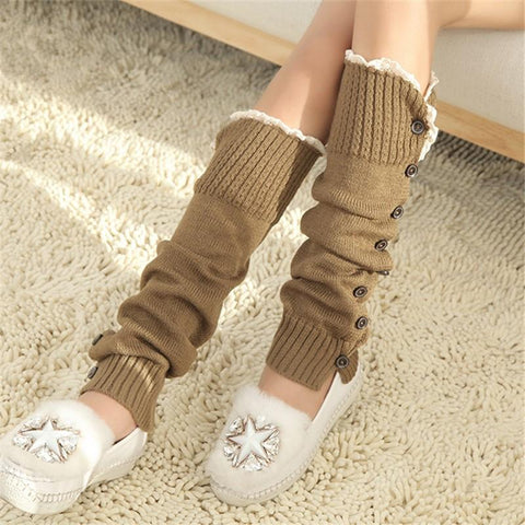 Fashion Casual Warm Knitted Stockings Leg Protector Legging Stockings