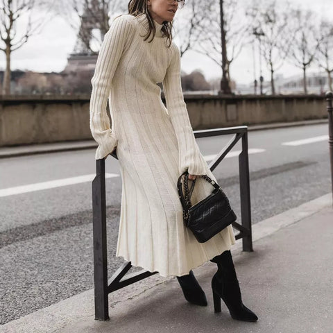 Knit Casual Daily Long Sleeve Dress