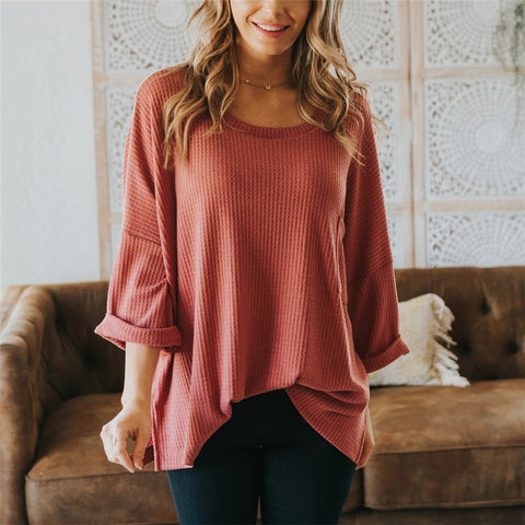Casual Lantern Sleeve Maternity Sweater Top