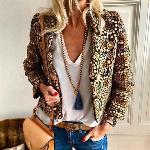 Autumn And Winter   Fashion Printing Family Style Blazer