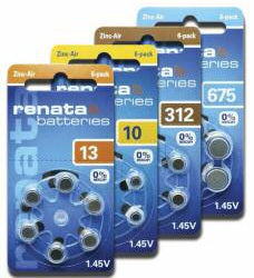 Renata Mercury Free Batteries