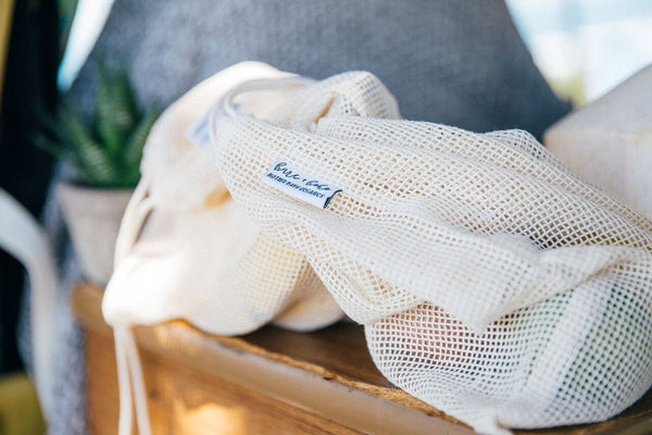 Organic Cotton Mesh Produce Bags (Set of 3)