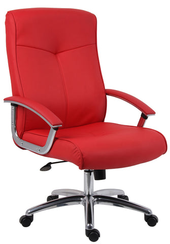 Hoxton Red Leather Office Chair by Teknik Office