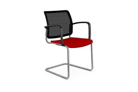 q visitor cantilever chair by boss design