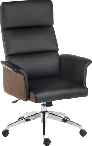 Elegance High Back Managers Chair Finished In Black Leather | Teknik Office