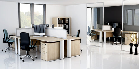 Optima Plus Crescent Workstation - New Image Office Design Ltd