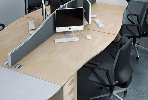Optima plus single wave desk by elite office furniture