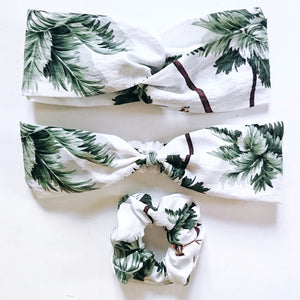 Bandeau palmier flamand rose 1