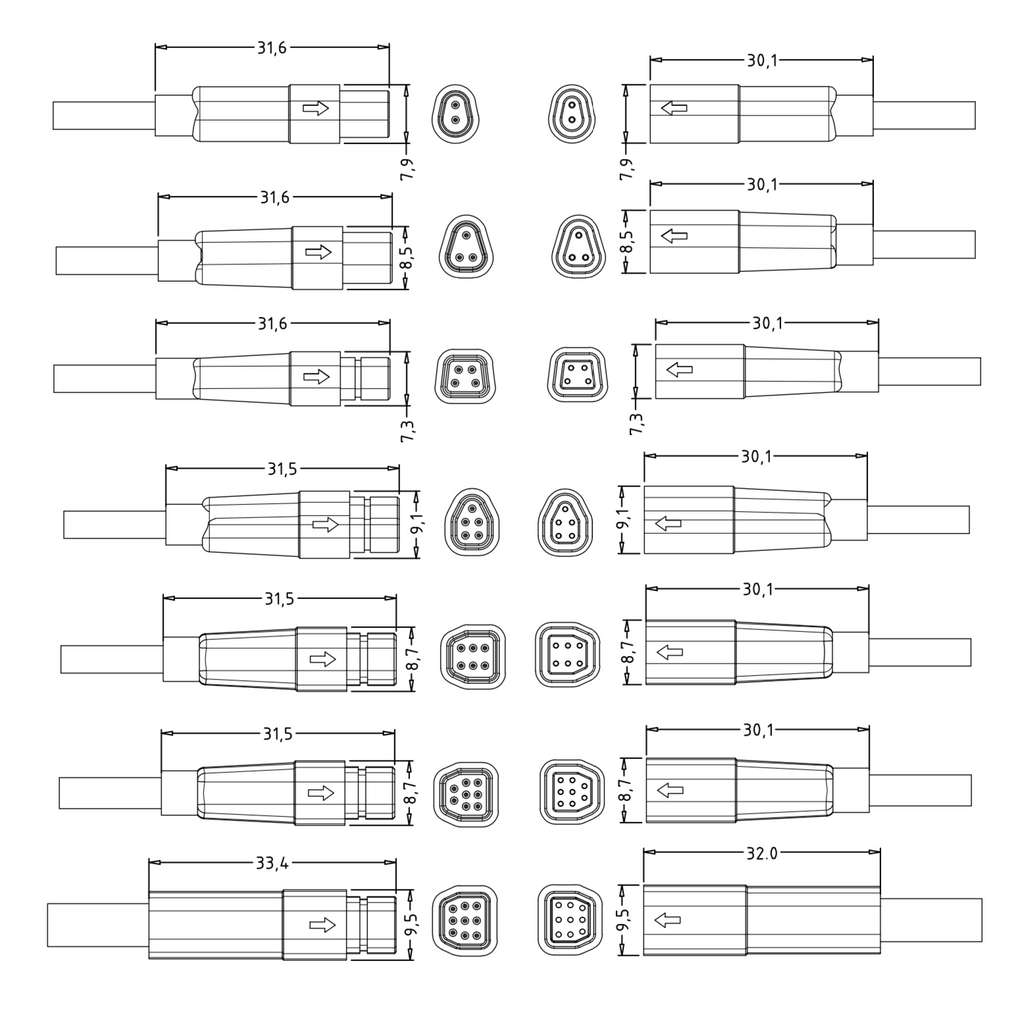 LED light connector waterproof
