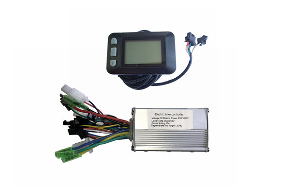 350w electric bike kit controller with small handle bar display ebike kit