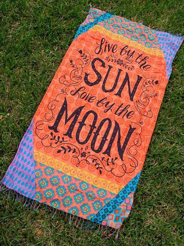 Special Letter Print Rectangle Shawl Beach Mat Yoga Mat