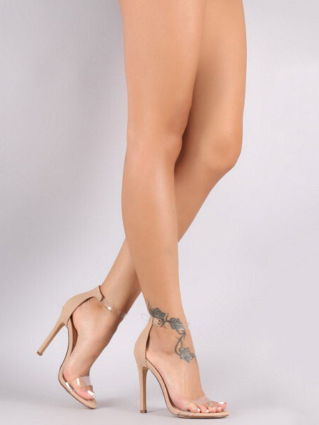 Fashion Clear Sandal High Heels