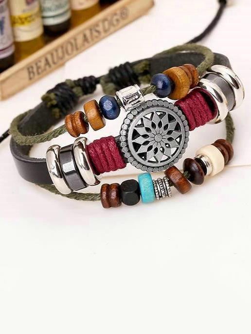 Punk Multi-layered Retro Beaded Bracelet Accessories