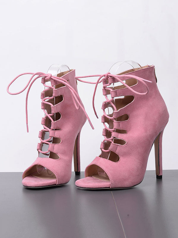 Fashion Peep-toe Cross Strap Heels