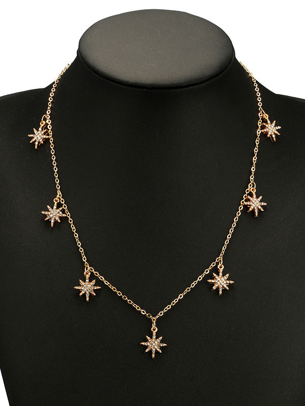 Vintage Star Pattern Necklaces Accessories